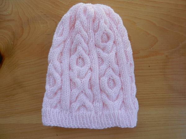 Oct272013 XOXO Cable Hat - pink
