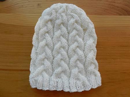 Nov082013 Braided Hat - white