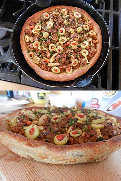 May192014 芝加哥深盤披薩 Chicago Style Deep Dish Pizza