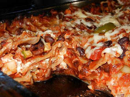 Sep042014 Goat cheese black bean lasagna 羊乳酪黑豆千層麵