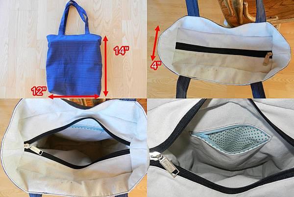 Oct102014 Recessed Zipper Bag_人淡如蓮_dimension