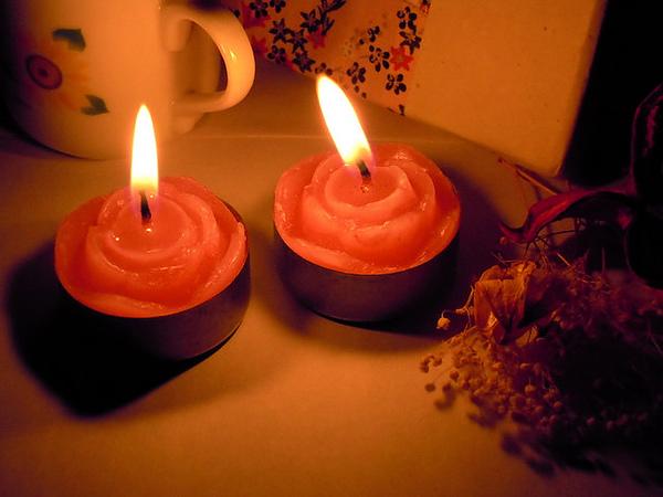 粉玫瑰鐵殼蠟燭
