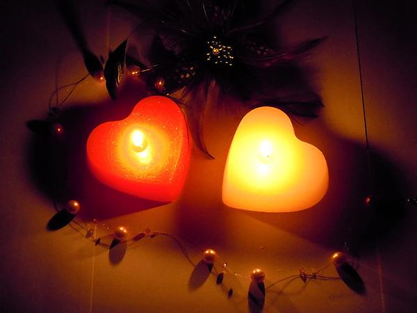 大愛心蠟燭