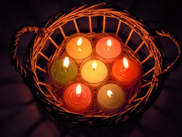 7彩透明殼蠟燭