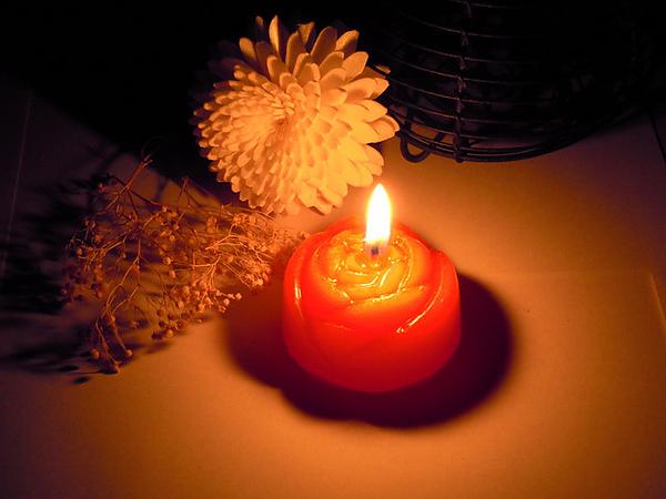 紅玫瑰蠟燭