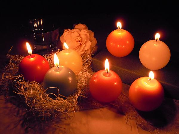 可愛圓球蠟燭
