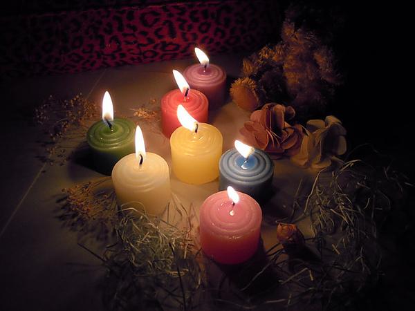 繽紛宵夜蠟燭