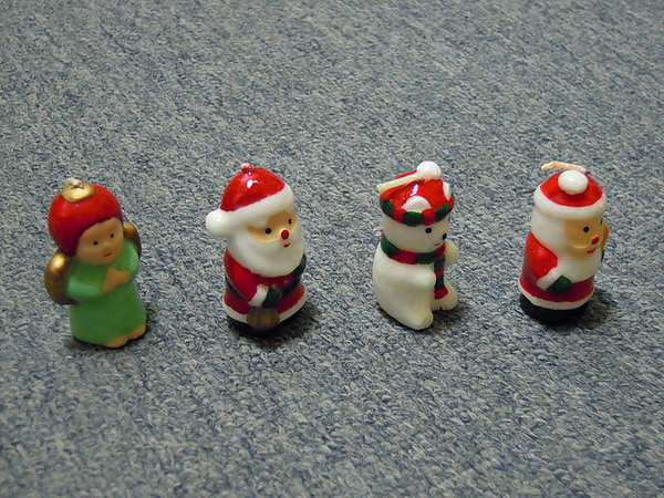 可愛聖誕公仔蠟燭