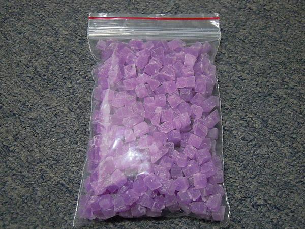 迷戀紫-小方糖蠟燭塊