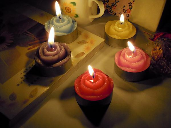 玫瑰鐵殼蠟燭
