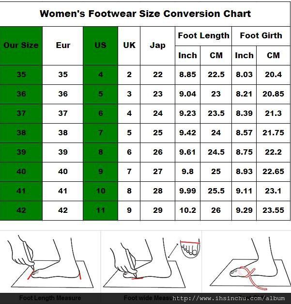 鞋子尺寸怎麼量? 鞋子尺寸換算表,要買鞋子前,請先查好換算表,以免買錯蓆子尺寸