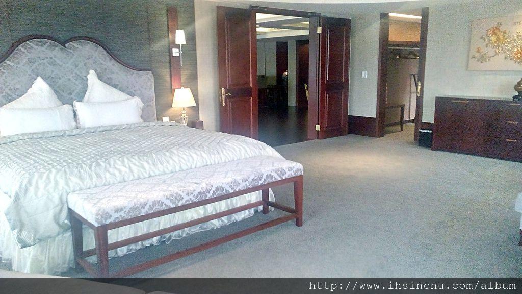 阿里山賓館總統套房的主臥室