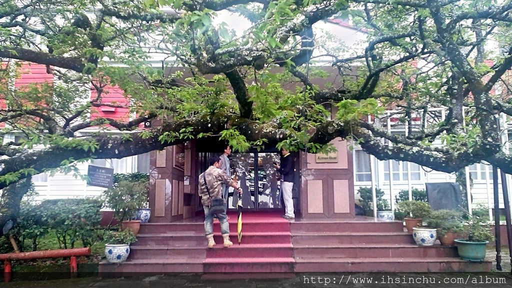 阿里山賓館古色古香的舊館歷史館大門