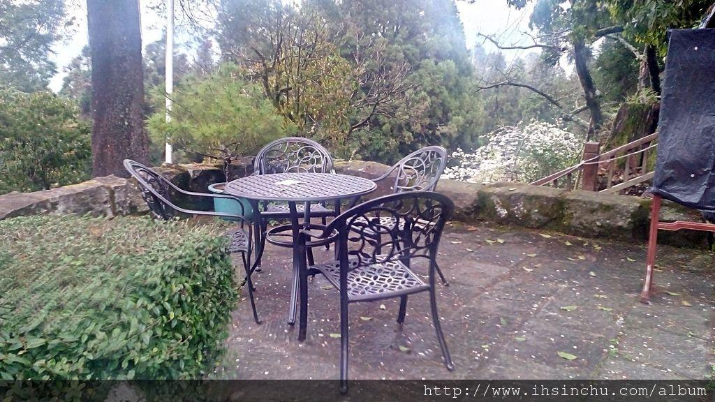 在櫻花樹下松庭露天咖啡喝一杯咖啡,沐浴在高山芬多精,伴隨晚霞及雲海,享受鳥語花香,百花齊放,絕對是永生難忘的體驗