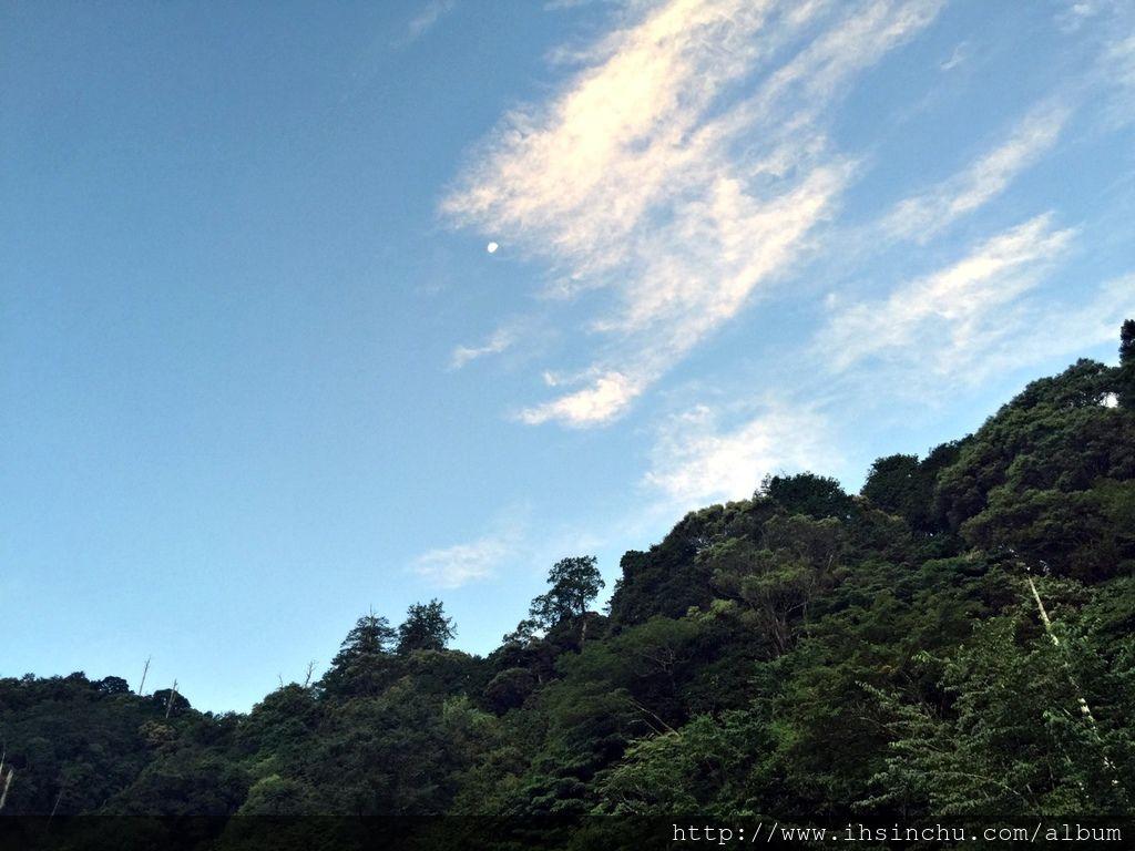 晴朗無雲的阿里山天空讓人心曠神怡煩惱盡消。