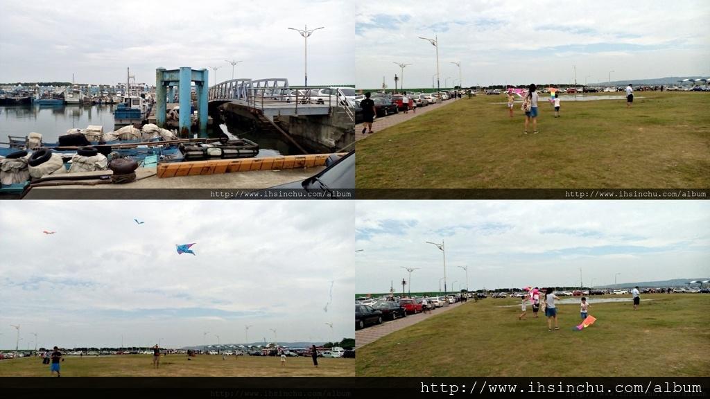 新竹南寮漁港廣場停車區,放風箏