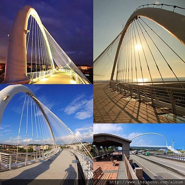 新竹香山景點-豎琴橋香山豎琴橋:新竹市香山區鹽水里台61線快速道路(西濱公路)  位於西濱公路上香山路段,有一座讓旅人可以橫跨西濱連通香山濕地的橋梁  而像豎琴的造型也是這座橋命名的原因