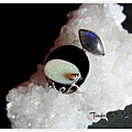 黑瑪瑙+藍暈長石+蛋白石+粉碧璽