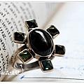 黑星石+碧璽 魔法戒指