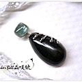 黑星石(透輝石)+海水藍寶