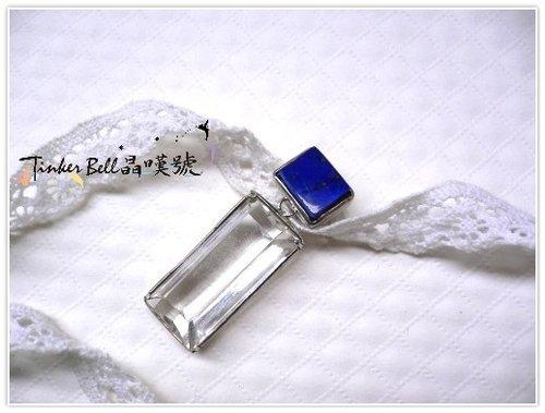 天然白水晶+青金石 - 凜