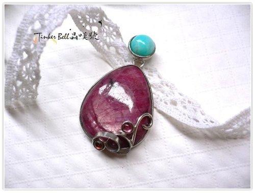 紅寶石+土耳其石+紅石榴石 - 緋蓮