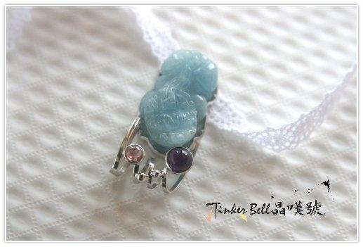 海水藍寶貔貅+紫晶+粉碧璽,把自己的金錢能量調整好,那麼財富自然就會被我們給吸引過來!