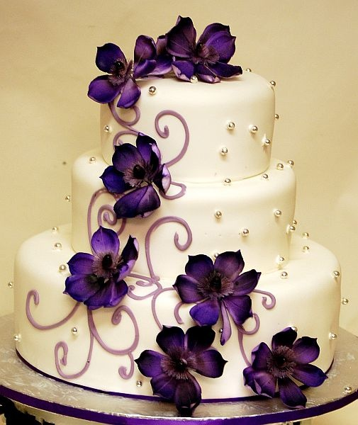 purple wedding cake2