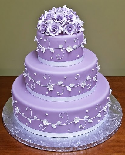 purple wedding cake3