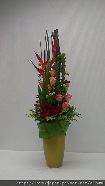 直立式盆花