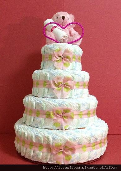 送給蒨寶貝的尿布蛋糕