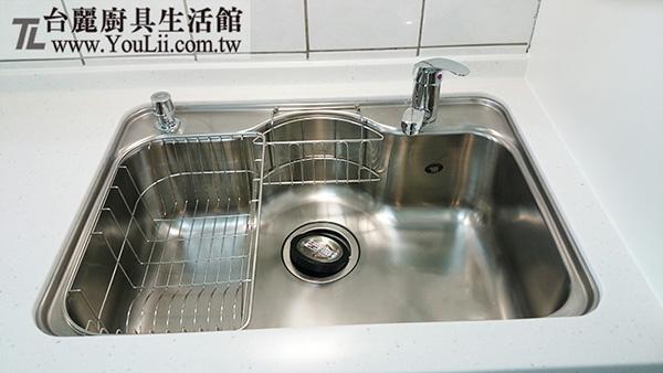 廚具案例分享-不鏽鋼歐化水槽