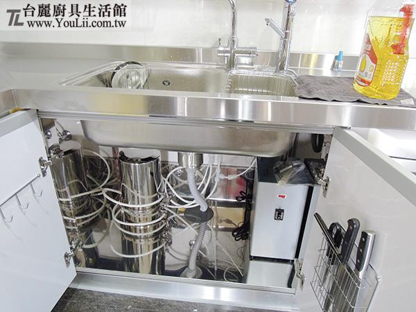 廚具案例分享-實進能量活機與櫻花廚下加熱器