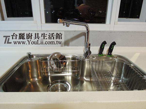 廚具案例分享-ST大單槽與新型三用水龍頭
