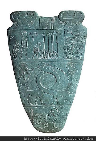 640px-Narmer_Palette_serpopard_side