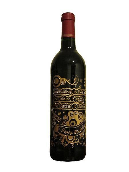 紅酒類-酒瓶雕刻