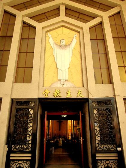 台中三民路天主教堂-陳夏雨雕塑