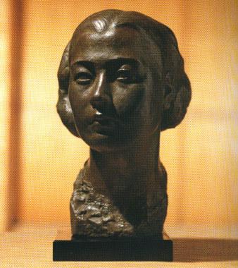 陳夏雨-婦人頭像-青銅-1939年-北美館藏