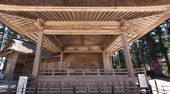 Noh stage at Chusonji Temple-   Hiraizumi