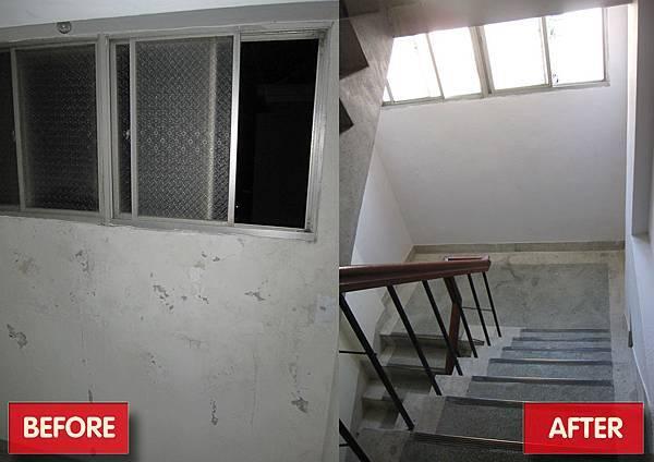 樓梯間牆面去壁癌-補土-油漆.jpg