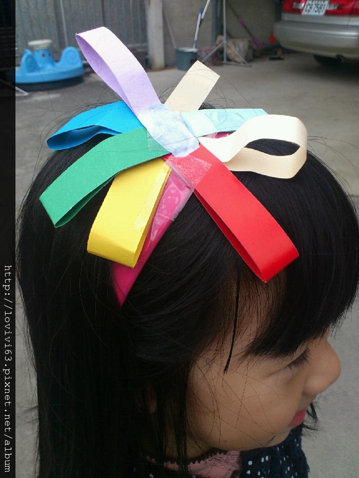 2012.03.09妮妮自製髮箍