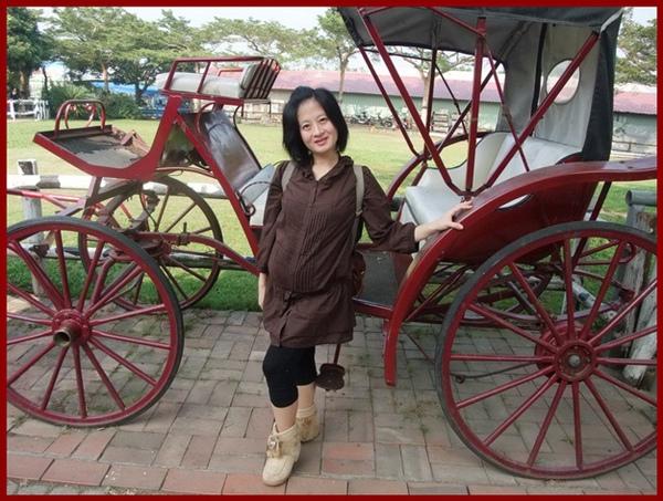 孕婦與馬車拍照.JPG