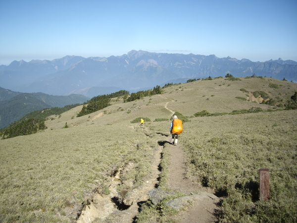 行走於遼闊的草坡~聖稜線即在眼前.JPG