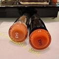 (左)癮誘超模唇膏#643小魔女(右)搽上迪奧癮誘超模絕色唇膏#643小魔女