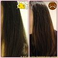 美吾髮花語玫瑰洗潤髮露使用前後比較 2