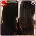 美吾髮花語玫瑰洗潤髮露使用前後比較