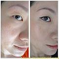 眼線與遮瑕完成 前後比較