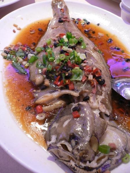 鼓汁蒸鰈魚