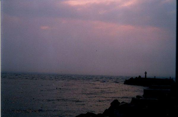 太陽落下去了