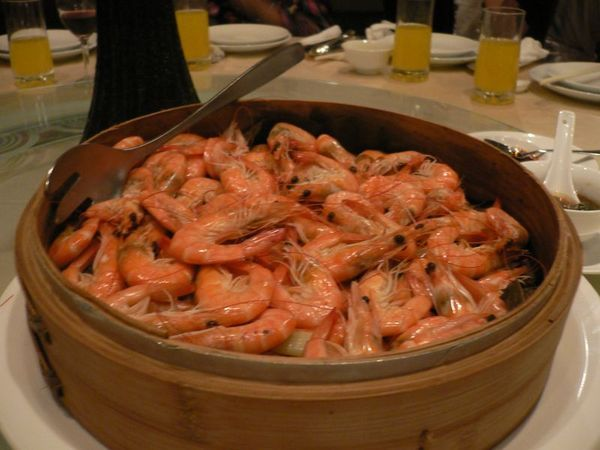 荷香蒸沙蝦